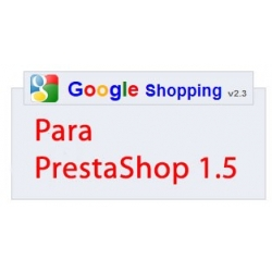 Módulo Google Shopping v2.3 para prestashop 1.5