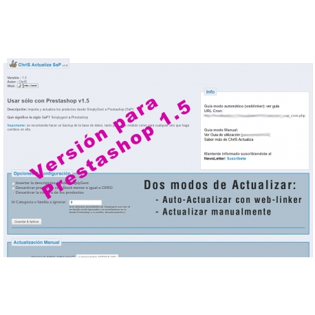 ChrlS Actualiza SaP v1.0 (Desde Simplygest a Prestashop)