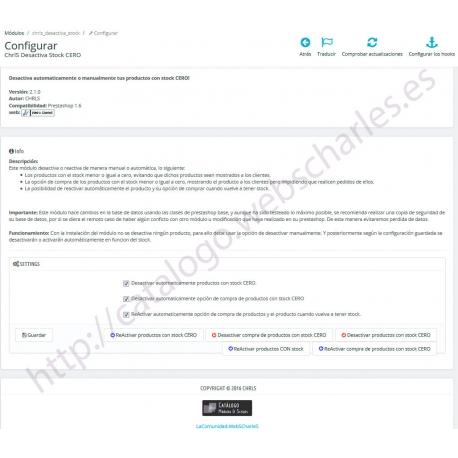 ChrlS Desactiva Stock CERO (PrestaShop 1.6)